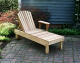 Cedar American Forest Chaise Lounge by Creekvine Design