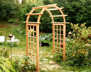 "Cedar Arched Arbor - 42"" Opening by Creekvine Design"