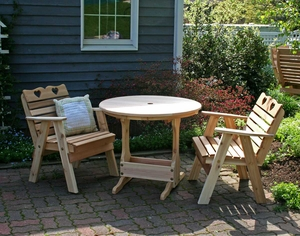 Cedar Country Hearts Bistro Set by Creekvine Design