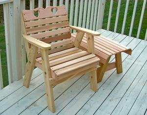 Cedar Country Hearts Patio Chair by Creekvine Design