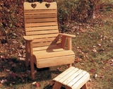 Cedar Royal Country Hearts Patio Chair by Creekvine Design