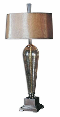 Celine Crackle Glass Table Lamp with Intricate Details Brand Uttermost