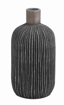 Cer Fino Medium Tall Vase with Rich Design and Natural Texture Brand Woodland