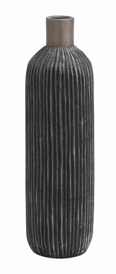 Cer Fino Tall Vase with Rich Design and Natural Texture Brand Woodland