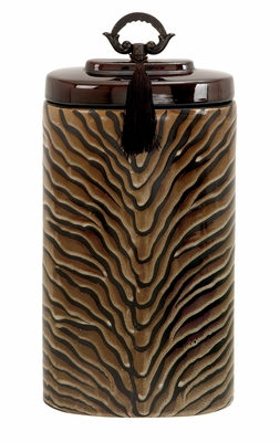 Ceramic Jar With Spill Proof Lid - 61796 by Benzara