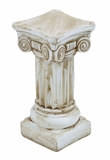 Ceramic Antiqued Pedestal with Intricately Detailed Carvings Brand Woodland