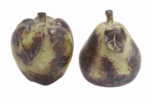 Ceramic Apple and Pear Decor in Red and Yellow for Dining Table Brand Woodland