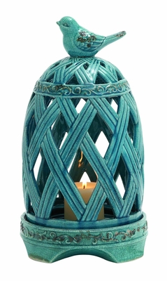 Ceramic Birdcage Candle Holder by Woodland Import