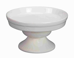 Ceramic Cake Pedestal in White Finish with Modern Design Brand Woodland