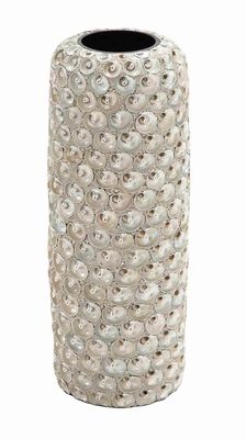 Ceramic Intricate Design Seashell Vase with Durable Material Brand Woodland