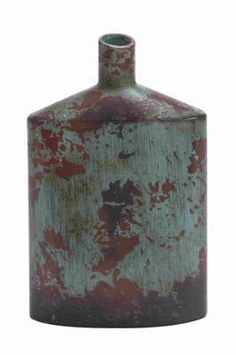 "Ceramic Lightweight 15""H Vase with Red and White Design Brand Woodland"