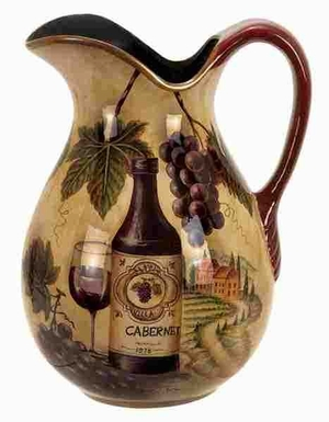 Ceramic Pitcher Desighned with Fine Artwork in Brown Brand Woodland