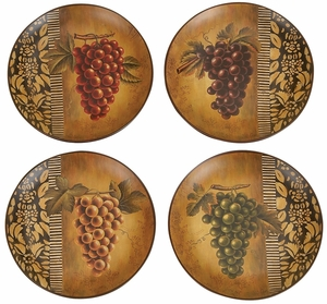 Ceramic Plate in Multi Color with Artistic Design - Set of 4 Brand Woodland