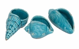 Ceramic Shell Set Of Three A Great Nautical Decor With Flexibility To Adjust Brand Woodland