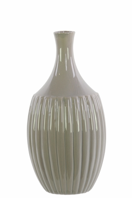Ceramic Small Flower Vase Gloss Gray
