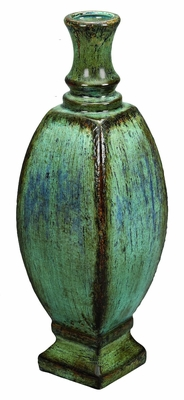 Ceramic Vase Crafted with Fine Detailing in Blue and Brown Brand Woodland