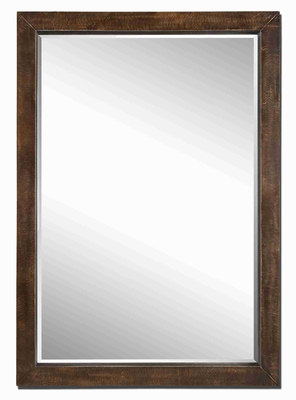 Cesano Oversized Wall Mirror with Heavy Antiqued Rustic Bronze Finish Brand Uttermost