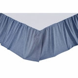 Chambray Star King Bed Skirt 78x80x16 - 25998 by VHC Brands