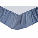 Chambray Star Queen Bed Skirt 60x80x16 - VHC Brands 25999