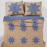 Chambray Star Twin Quilt 86x68 - 25993 by VHC Brands