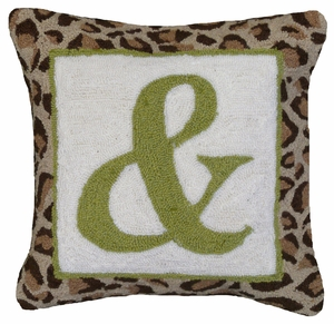 "Changing Times & Sign Hooked Pillow 16x16"" by 123 Creations"