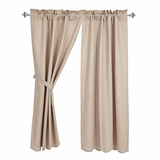 Charlotte Solid Natural Scalloped Short Panel Set of 2 63x36 - 25765 by VHC Brands