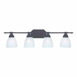 Charming 4 Lights Vanity Lighting in Oil Rubbed Bronze by Yosemite Home Decor