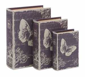 Charming And Delicate Paris Butterfly Themed Book Box Set Brand Woodland
