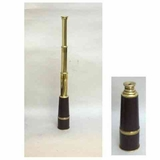 Charming Brass Pullout Telescope With Leather Grip Brand IOTC