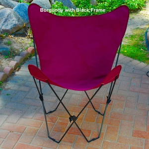 Charming Butterfly Styled Steel Foldable Chair by Alogma