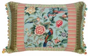 Charming Canton Garden - Caldron Petit Point Pillow by 123 Creations