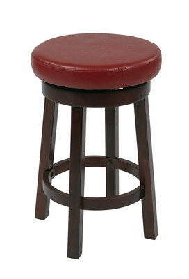 Charming Metro Round Barstool with Faux Leather by Office Star