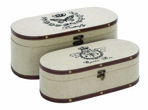 Charming Nature Garden Themed Jewelry Box Set With Leather Brand Woodland