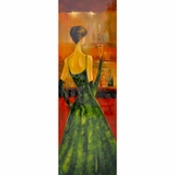 Charming Painting of Women of Distinction Green by Yosemite Home Decor