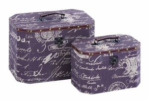 Charming Paris Lifestyle Jewelry Box Set With Leather Brand Woodland
