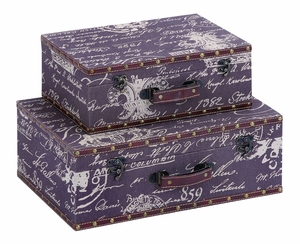 Charming Paris Lifestyle Storage Case Set With Leather Brand Woodland