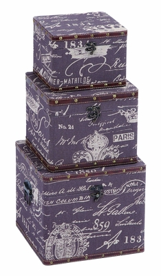Charming Paris Lifestyle Treasure Box Set With Leather Brand Woodland
