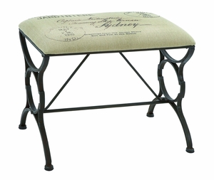 Charming Paris Postcard Style Bench With Iron Alloy Brand Woodland
