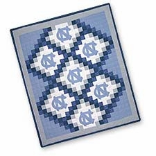Charming Quilted Throws with University of North Carolina Logo Brand C&F