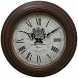 Cheerful Circular Brown Iron Wall Clock with glass by Yosemite Home Decor