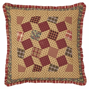 Cheerful Napa Valley Quilted Euro Sham by VHC Brands