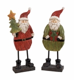 Cheerfull Santa Figurines 2 Assorted Holiday Decor