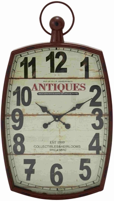 Chelmsford historic Styled Metal Wall Clock Brand Benzara