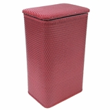 Chelsea Collection Apartment Hamper in Raspberry by Redmon