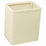 Chelsea Collection Decorator Color Square Wicker Wastebasket in Cream by Redmon