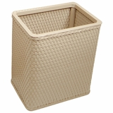 Chelsea Collection Decorator Color Square Wicker Wastebasket in Mocha by Redmon
