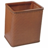 Chelsea Collection Decorator Color Square Wicker Wastebasket in Nutmeg by Redmon
