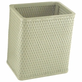 Chelsea Collection Decorator Color Square Wicker Wastebasket in Sage Green by Redmon