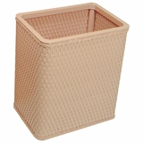 Chelsea Collection Decorator Color Square Wicker Wastebasket in Tea Rose by Redmon