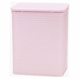 Chelsea Collection Decorator Color Wicker Hamper in Crystal Pink by Redmon